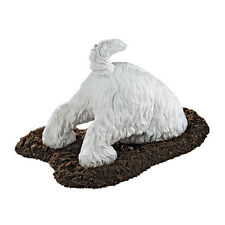 Puppy Dog West Highland White Terrier Breed Digging a Hole Canine Sculpture