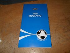 NOS 1996 FORD MUSTANG GT SALEEN COBRA FACTORY FORD ORIGINAL OWNERS MANUAL NEW