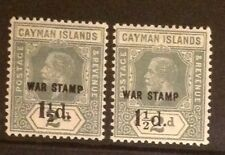 CAYMAN ISLANDS 1920 SURCHARGE WITH UNLISTED ' 1/2 '. SG58 VERY LIGHTLY MOUNTED