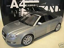 AUDI A4 cabriolet convertible grise au 1/18 de NOREV 188322 voiture miniature