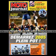 MOTO JOURNAL N°1645 SUZUKI DL 650 V-STROM HARLEY DAVIDSON YAMAHA YZF R1 GMT 2004