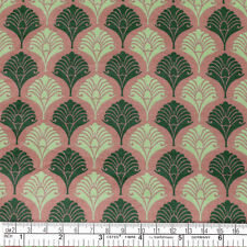Cotton Print Fabric FQ Retro Peacock Bird Feather Tail Floral Fan FabricTime VP2