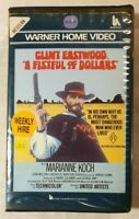 A Fistful of Dollars VHS 1964 Western Sergio Leone Clint Eastwood 1982 WB ExRent