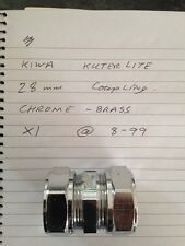 Kuterlite Kiwa 28mm Coupling Chrome/Brass, Free P&P UK Location