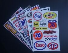 PACK OF 5 FIVE SHEETS OF BMX MOTO-X MOTOR SPORT RALLY RACING STICKERS:- LOT B
