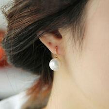 EPIC VAULT- Cultured Freshwater Pearl Drop Hoop Earrings- Silver Plated