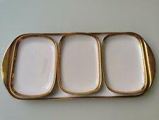 Belgian vintage Porcelain de Baudour 4-piece dish set, gold, gilt decor