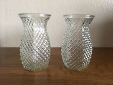 (Vintage Set 2) Hoosier Glass Vase/ Pineapple/ Diamond Hobnail Vase/ # 4071 Lot