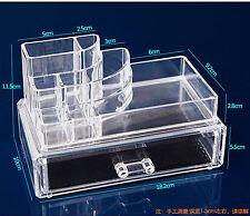 Makeup Cosmetics Jewelry Organizer Clear Acrylic Drawers Display Box Storage Z05