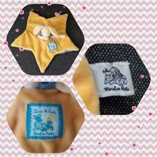 Peluche Doudou Moulin Roty Etoile jaune et bleu Souris Lise et Lulu TBE 27cm