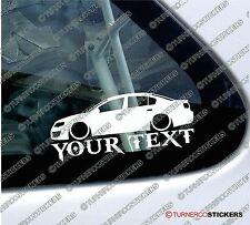 2x Custom Text Lowered car stickers - for VW Passat R36, B6 sedan / saloon