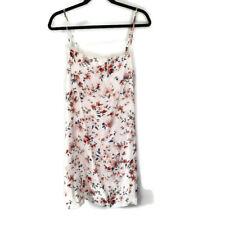NEW Hollister Sleep Dress Womens Pajama Floral White Satin Nighty Medium