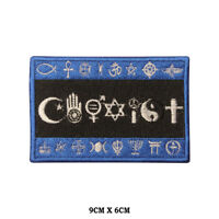 COEXIST Flag Embroidered Patch Iron on Sew On Badge For Clothes etc