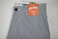 NWT DOCKERS 29x32 Mens Flat Front Blue White Pinstripe STRAIGHT FIT Casual Pant