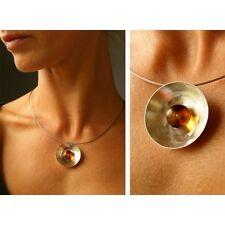 Kette, Silberkette, Bernsteinkette, Amber necklace,SCHALE, Silber 925 NEU