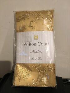 Wilton Court Gold Dinner Napkins Set Of 4