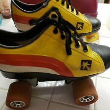 Vintage Red Yellow White Roller Skates Sz 7