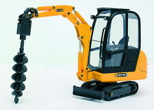 JOAL 268 JCB 8016 Mini Excavator with Earth Drill Attachment 1/25 Scale T48 Post