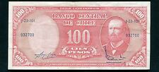 1961 100 CIEN PESOS BANCO CENTRAL DE CHILE BANKNOTE