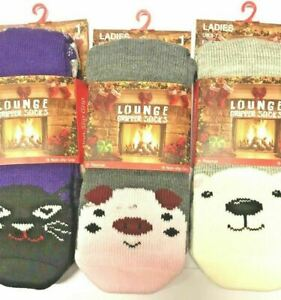 Cream With Pink Spots, 3-5.5 Baby Fluffy Lined Slipper Socks Lounge Sock With Grippers Boys Girls