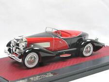 Matrix 1931 Duesenberg J SWB French True Speedster by Figoni red/black 1/43