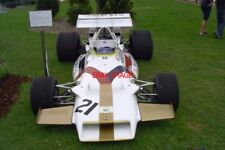 PHOTO  HALL & HALL'S YARDLEY-BRM P160 ON DISPLAY NEAR THE PADDOCK BRIDGE. SILVER