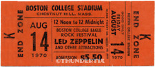 1 Led Zeppelin Vintage Unused Full Concert Ticket 1970 Boston, Ma org Laminated