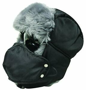 Misty Mountain Thermal Aviator Hat with Face Mask Black Size Large