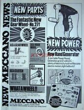 1971 MECCANO Advert 'No.27f Gear Wheel', Hand Power Generator - Vintage Print Ad