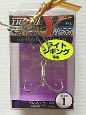 Ancorette Decoy Y-F55 Treble Hook Light Jigging Treble Hooks Size 1