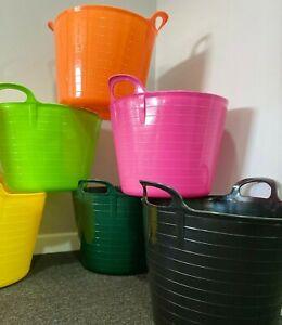 42L FLEXI TUB Plastic Bucket Garden Storage Trug Builder Container Feed Gorilla