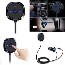 Bluetooth Wireless Music Receiver 3.5mm Adapter Handsfree AUX Speaker PC Car Kit