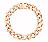 Classic 18k White Gold Filled GF Curb Link Bracelet BL-A281