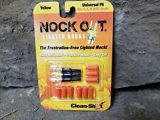 3-pk Nock Out Original Lighted Arrow Nocks Universal Fit Yellow