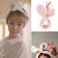 Cute Big Rabbit Ear Soft Towel Hair Band Wrap Headband For Bath Spa Make Up@