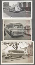Lot of 3 Vintage Photos 1930s Mack & Charter Bus 730389