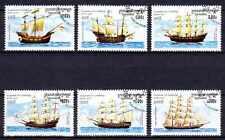 Bateaux Cambodge (14) série complète de 6 timbres oblitérés