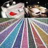 648 Self Adhesive Stick On Assorted Colour Diamonte Gems Crystal Rhinestone 3mm