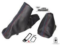 Automatic Gear Handbrake Gaiter For Bmw E90 E91 E92 E93 Leather M3 Stitch