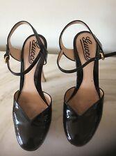f8ac21908 Gucci Sandals Womens Heels Black Size 36