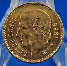 1955 Mexico Gold 5 Pesos Miguel Hidalgo y Costilla