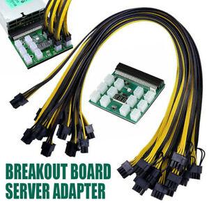 Breakout Board Kit 12x 6Pin zu 6+2 Pin Kabel HP Server Netzteile Mining DE