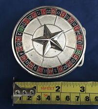 Roulette Spinner Round Belt Buckle Metal Brand New Unworn Unused