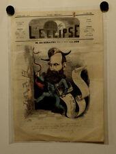 Caricature, Journal l'éclipse ,M. de Kératry, Job ,10 octobre 1886
