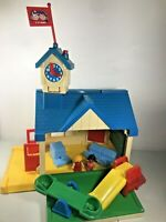 Vintage Spectra My Little School House Toy Playground Playset 1989 Little People