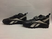 Reebok Mens Football Cleats Black/Silver, Size 15 US