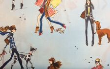 Robert Kaufman WHO'S THAT GIRL (Sky) 100% Cotton Prem Quilt Fabric - Per 1/2 yd