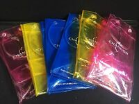 Moet Chandon champagne set of 6 cooler carrier bags pink yellow blue bar/party