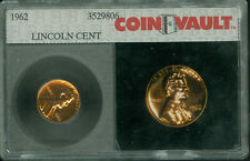 1962 LINCOLN CENT PROOF COIN VAULT PHOTOSLAB  RARE *