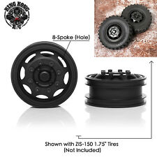 New 1.75 Metal Front Wheel for 1/12 1/14 RC Soviet ZIS-150/CA10/Tamiya Truck
